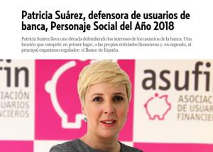 Patricia Suárez, personaje social del año 2018