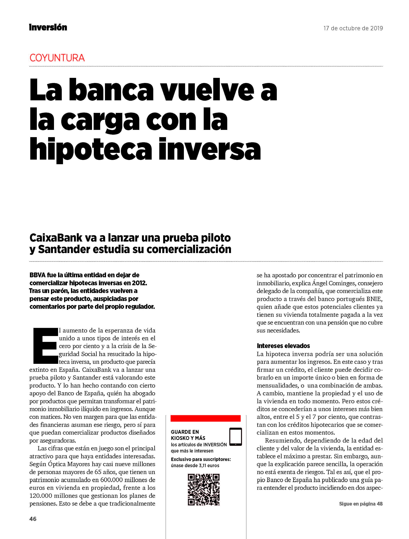 INVERSA: Patricia Suárez en la revista Inversión – 17.10.19