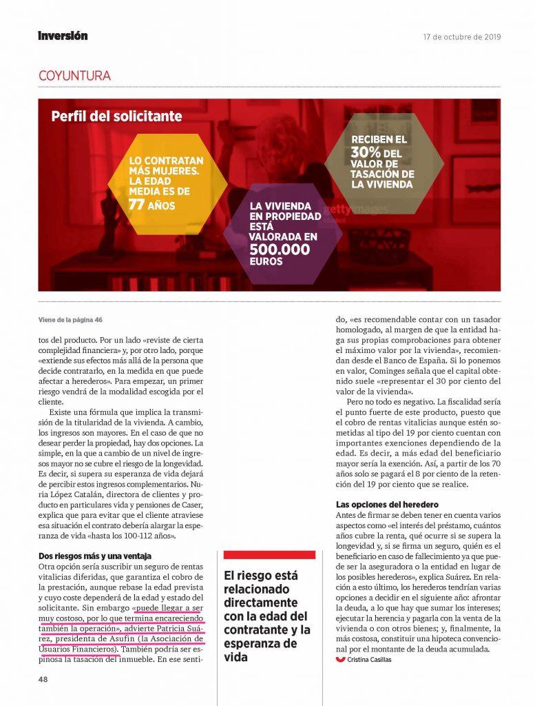 HIPOTECA INVERSA - REVISTA INVERSIÓN - página 3 - ASUFIN