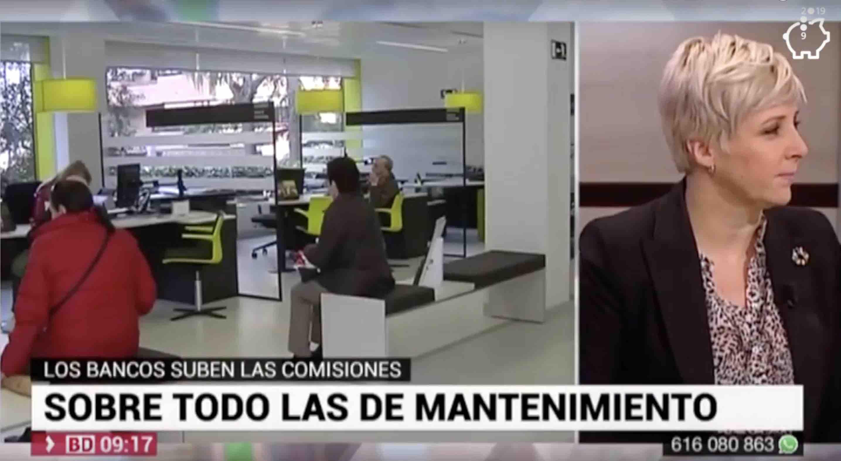 ASUFIN en TELEMADRID sobre comisiones bancarias – 15.10.19