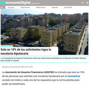 06.04.2020 - ECONOMÍA DIGITAL - ASUFIN ESTUDIO MORATORIA