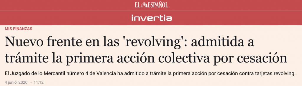 Nuevo frente en las 'revolving': admitida a trámite la primera acción colectiva por cesación