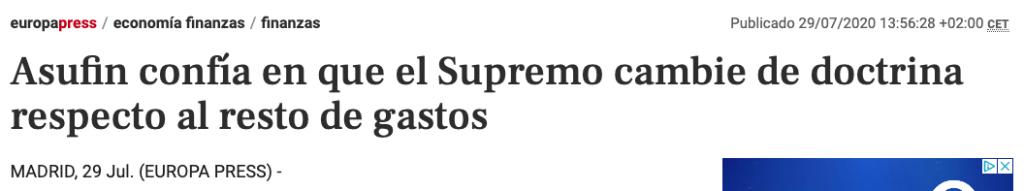 Tribunal Supremo - Europa Press