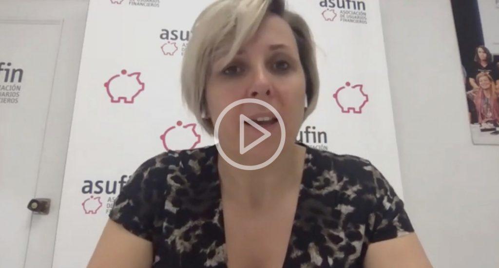 Patricia Suárez durante el webinar de préstamos al consumo en tiempos de COVID-19